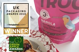 Earthpouch, Earthfilm, Earthbag, Earth Packing, Sirane, Plastic free, Doypack, Doypacks, Standup Pouch, Paperpouch, Stazak, Stazakken, Box Pouches, Pouches, chocolade verpakking, zoetwaren verpakking, papieren verpakking, composteerbaar, recyclebaar, duurzaam, sustainable, UK Packaging Awards, the green apple award